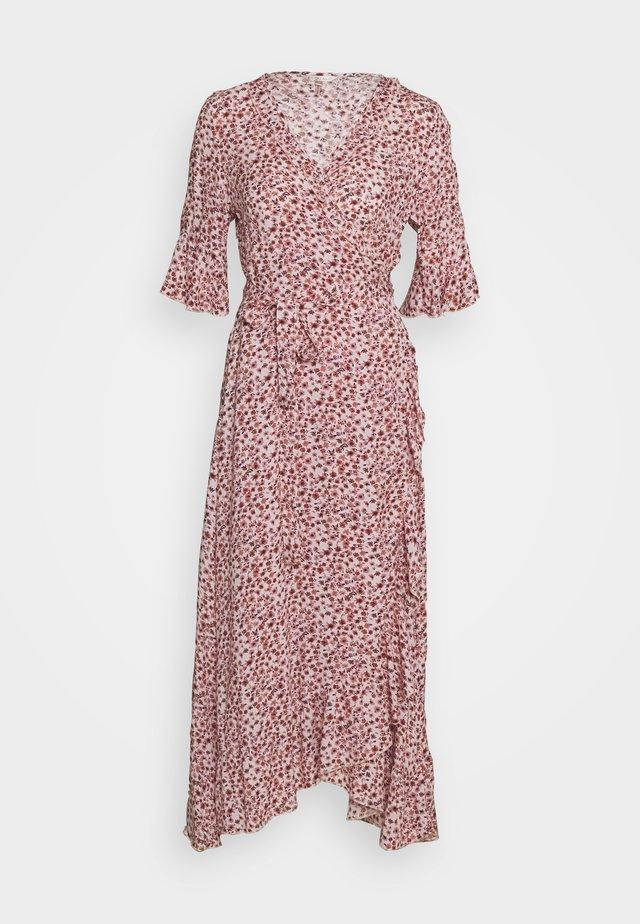 DRESS LONG WRAPPER BOHEMIAN - Korte jurk - light pink