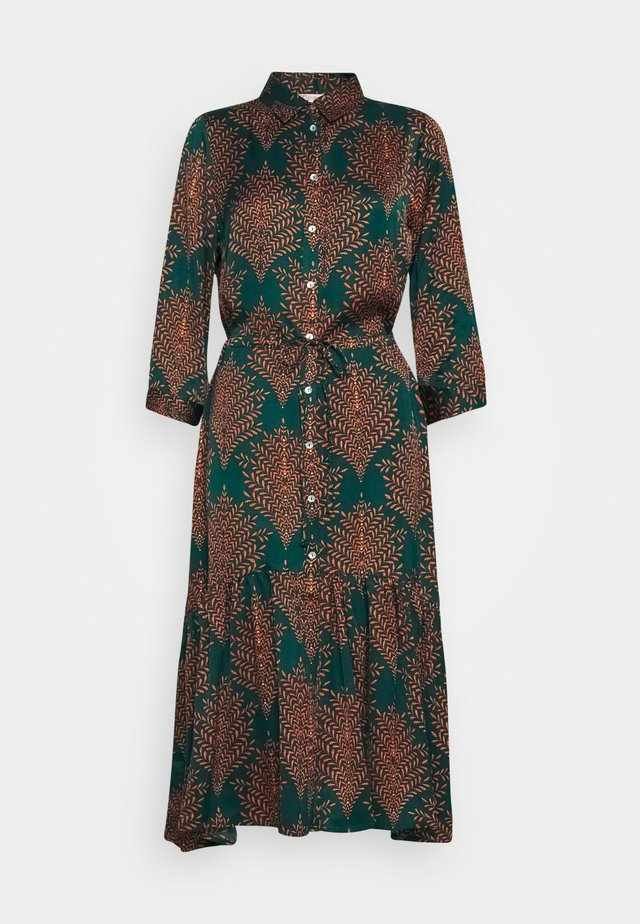 DRESS FERN PRINT - Shirt dress - teal