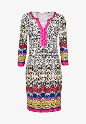 DRESS TROPICAL PRINT - Jersey dress - multi coloured