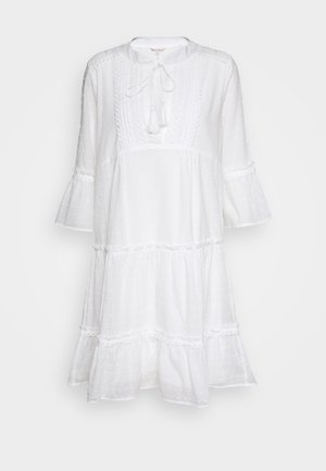 DRESS PLUMETIS - Abito a camicia - off white