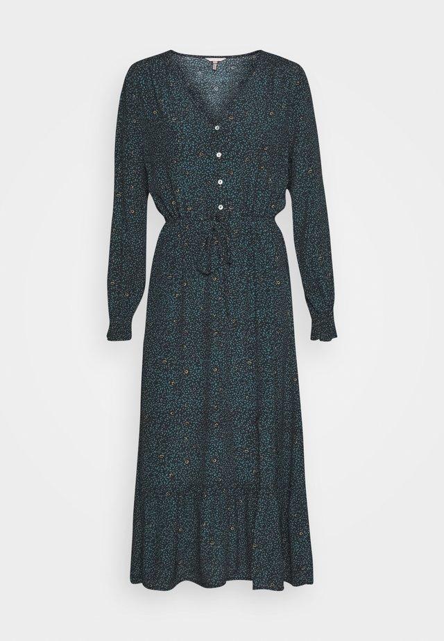 DRESS SMALL FLOWER PRINT - Robe longue - teal