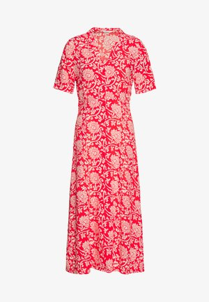 DRESS ETHNIC PRINT - Shirt dress - red