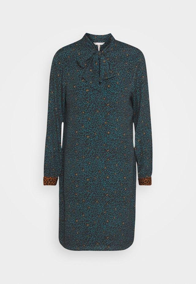 DRESS LEOPARD CUFF LEAF PRINT - Robe d'été - teal