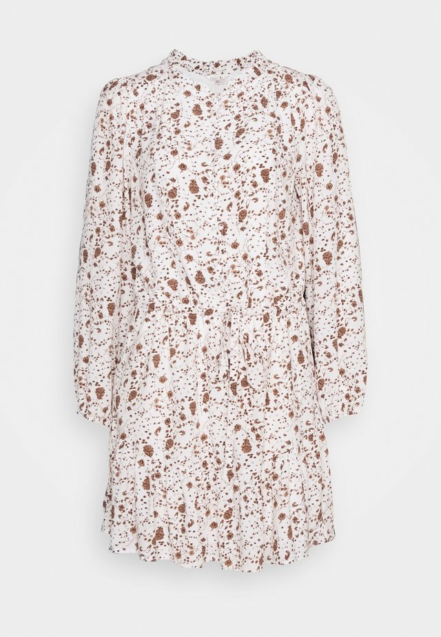 DRESS SMALL FLOWER  - Day dress - off-white/light brown