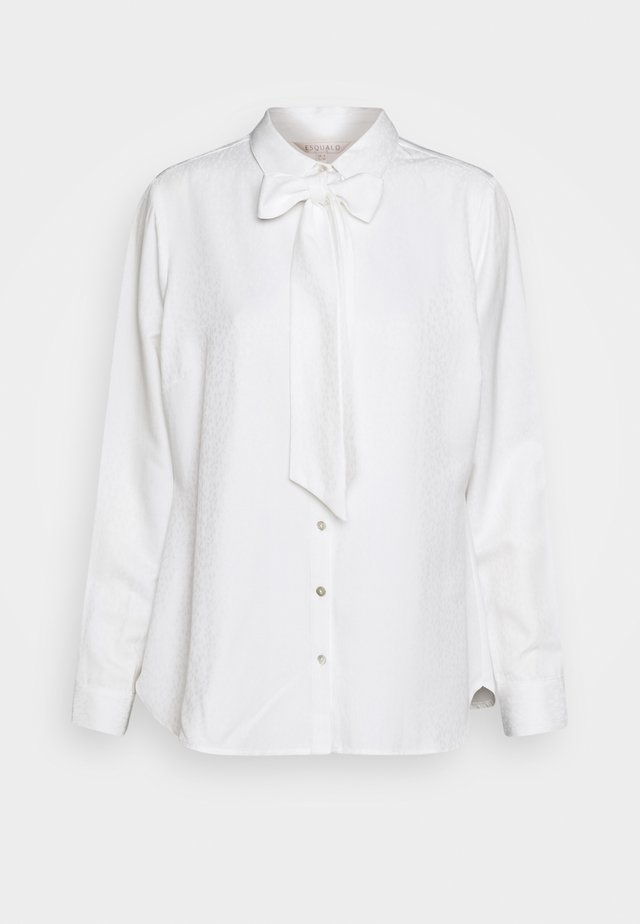 BLOUSE BOW SOLID - Blouse - off white