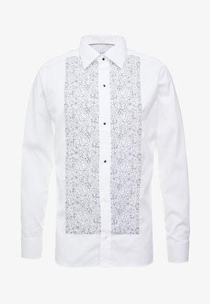 SLIM FIT - Formal shirt - white/black