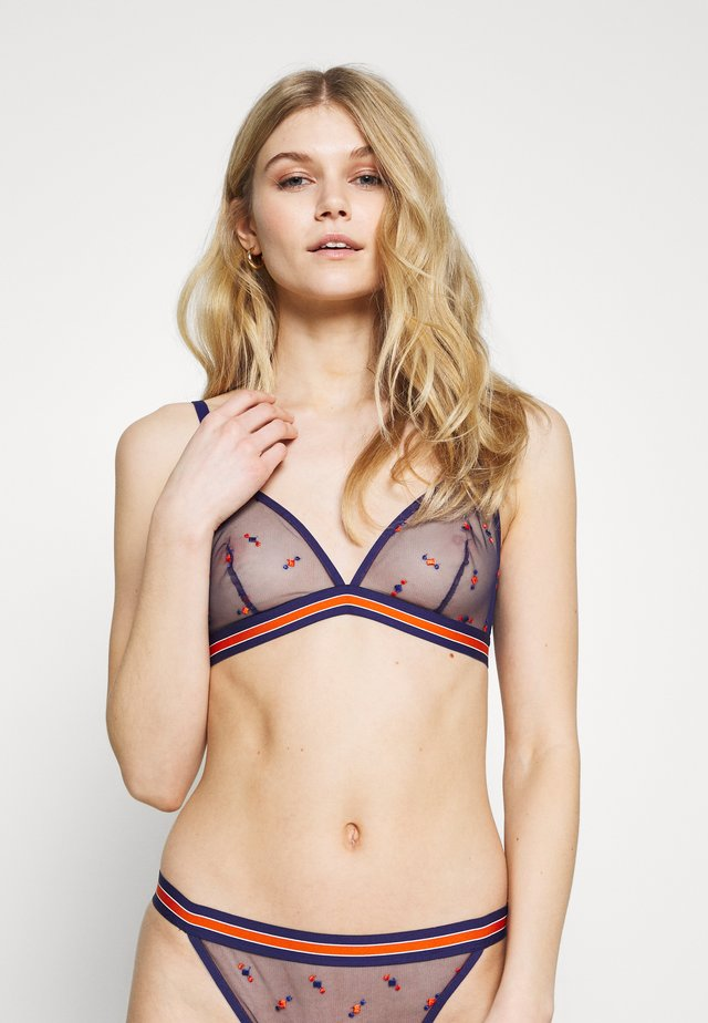 NINETIES - Triangle bra - bleu royal