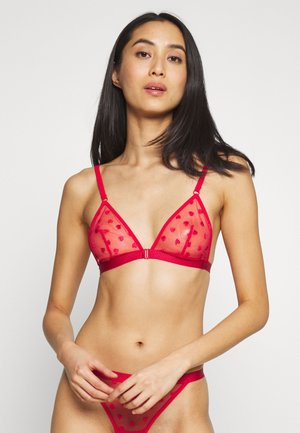 COCKTAIL - Triangle bra - rouge