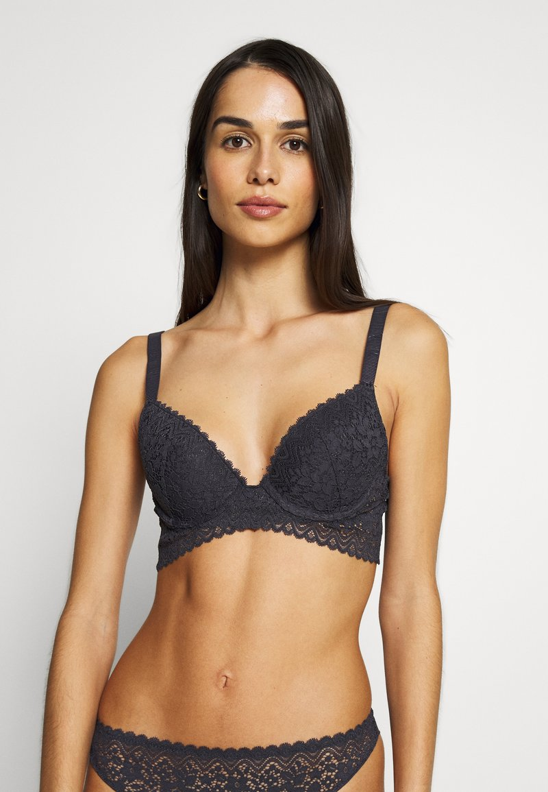 Etam - YESTERDAY N°2 CLASSIQUE - Push-up BH - anthracite