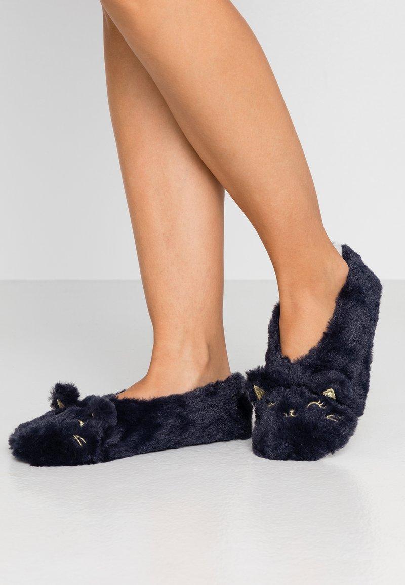 Etam - CHAT-SOCKS - Slippers - indigo