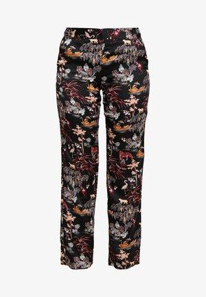 LEON PANTALON - Pyjama bottoms - imprime noir