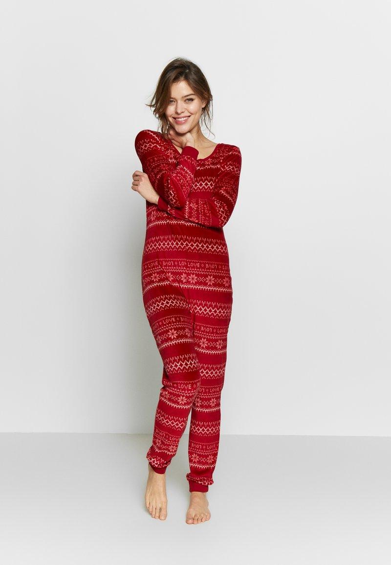 Etam - CONEY COMBI - Pijama - rouge