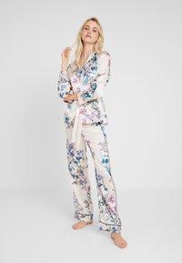 Etam - AQUARELLE CHEMISE - Pyjama top - ecru - 1