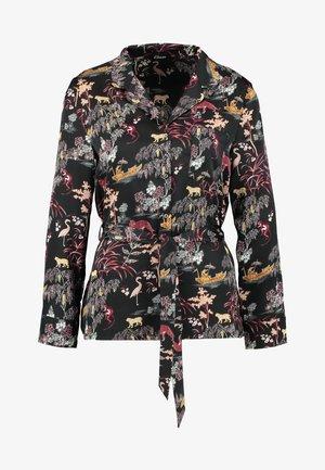 LEON CHEMISE - Pyjama top - imprime noir