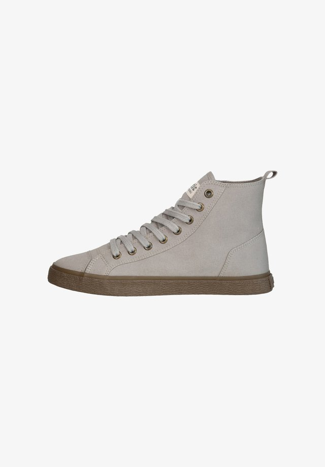 High-top trainers - olive