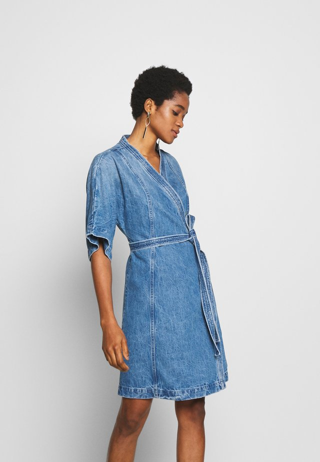ELODIE - Denim dress - blue