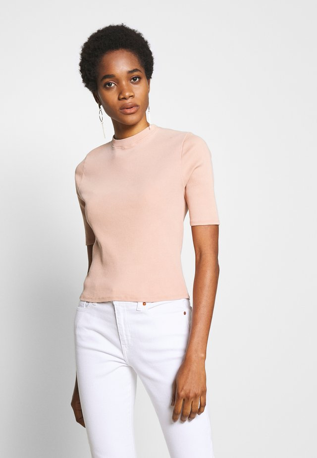 AUDREY MOCK NECK - T-shirt imprimé - coffee