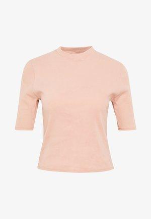AUDREY MOCK NECK - Print T-shirt - coffee