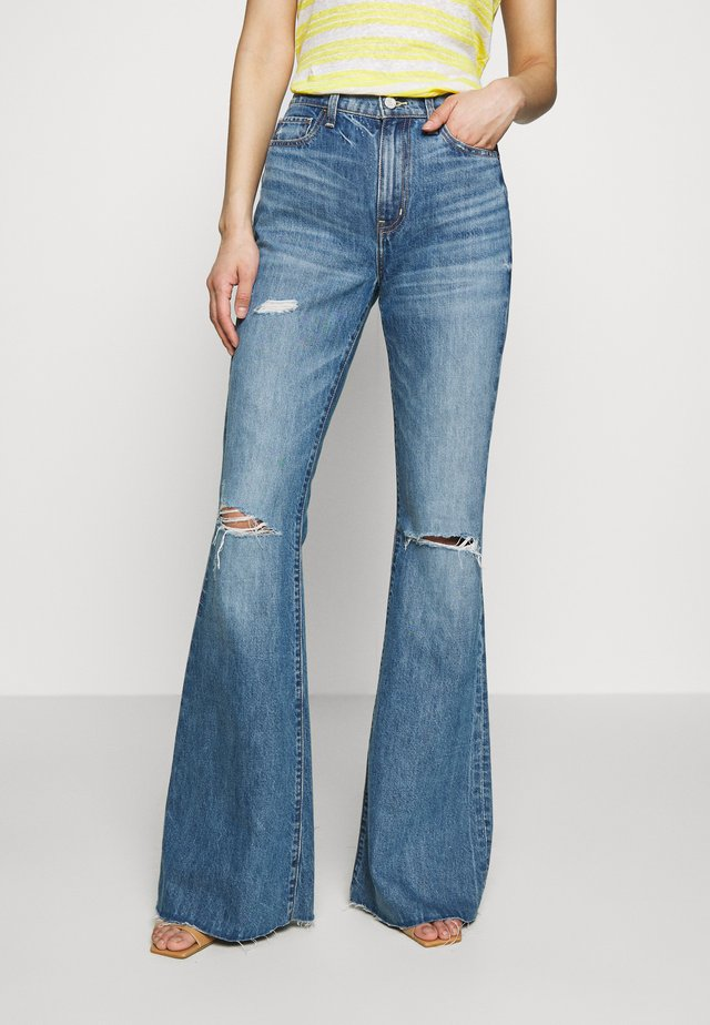 NINA - Flared Jeans - destroyed denim