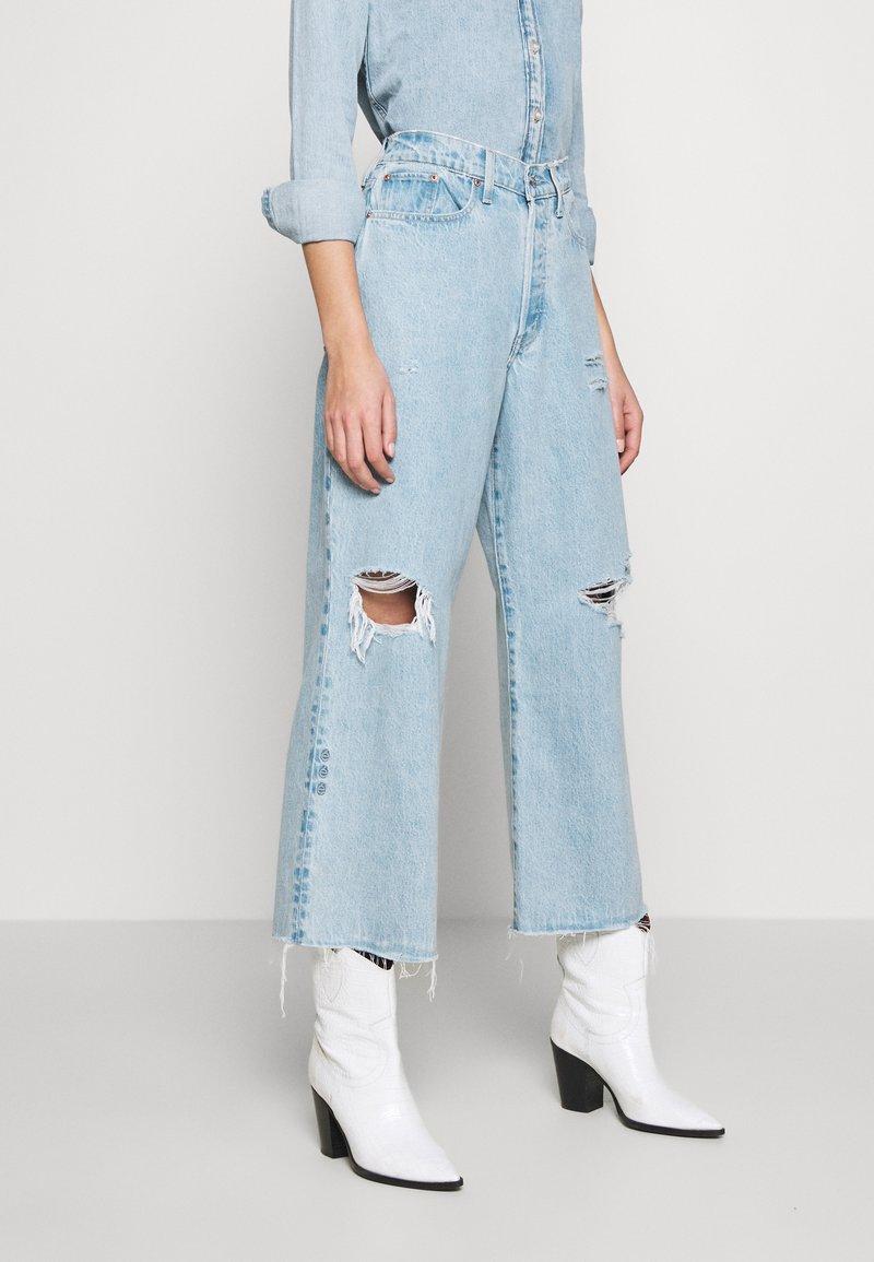 Ética - DEVON CROP - Flared jeans - mojave river