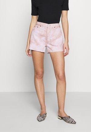 SYDNEY - Denim shorts - bougainvillea watercolor
