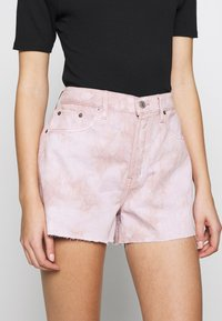 Ética - SYDNEY - Denim shorts - bougainvillea watercolor - 3