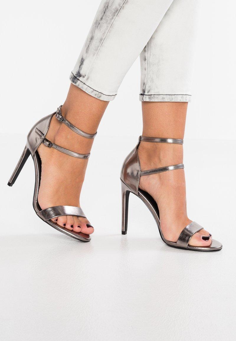 Even&Odd - High Heel Sandalette - gunmetal