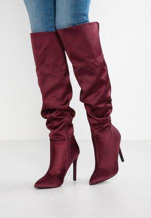 Stivali con i tacchi - dark red