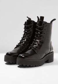 Even&Odd - Platform ankle boots - black - 4