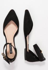 Even&Odd - Ankle strap ballet pumps - black - 3