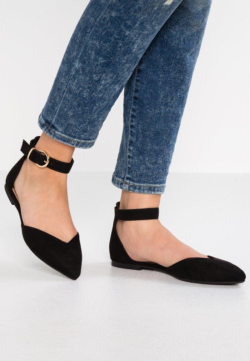 Even&Odd - Ankle strap ballet pumps - black