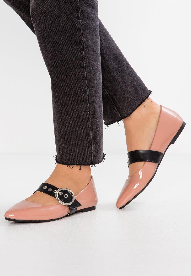 Even&Odd - Ankle strap ballet pumps - nude