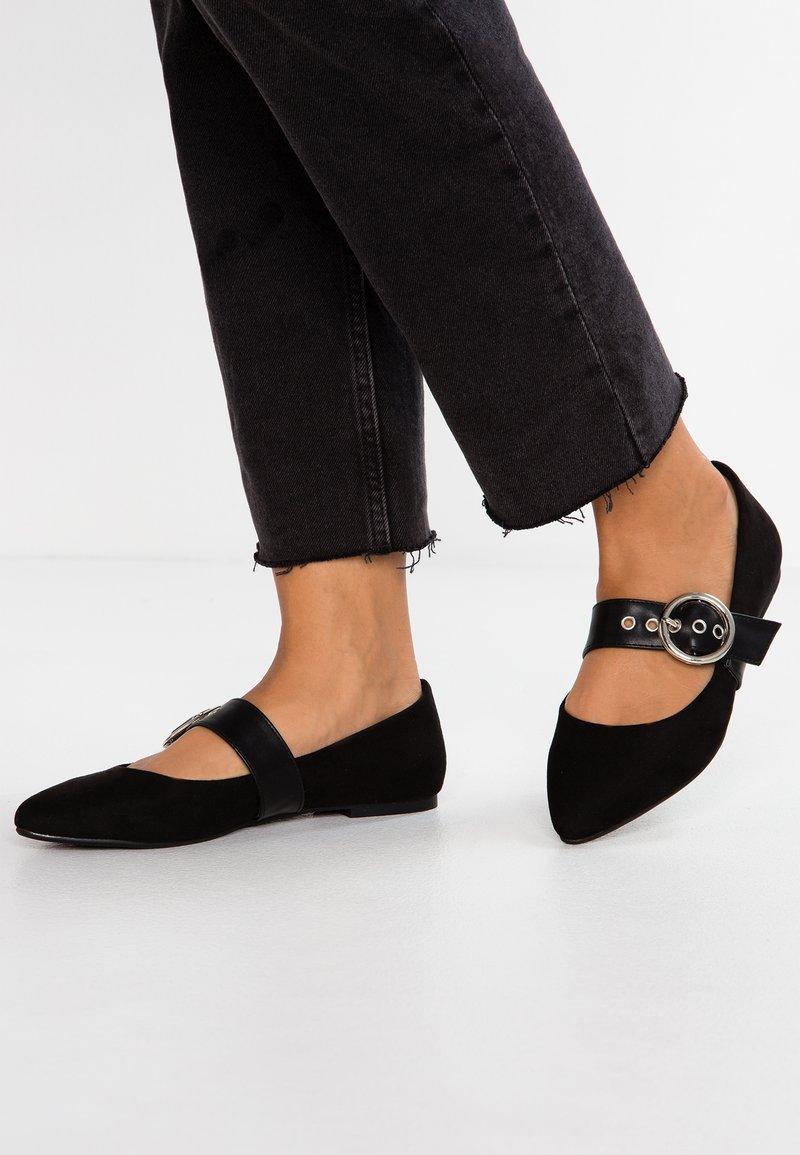 Even&Odd - Bailarinas con hebilla - black