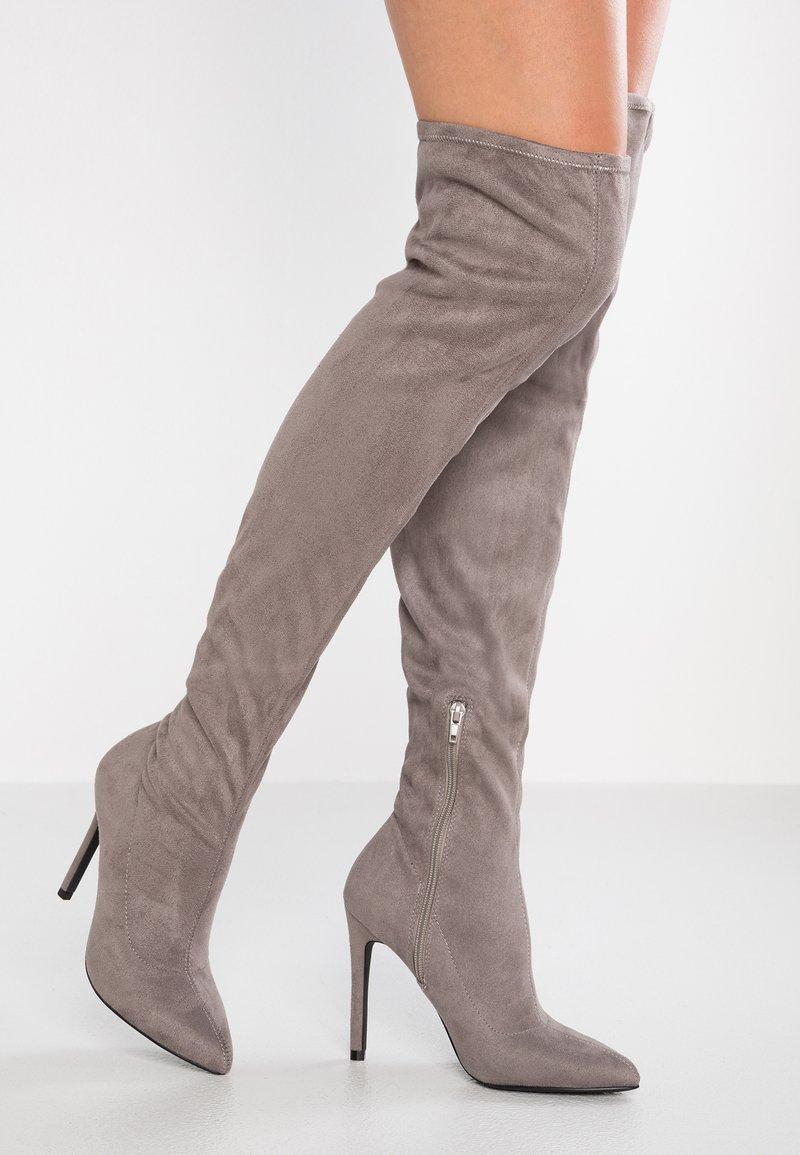 Even&Odd - Boots med høye hæler - grey