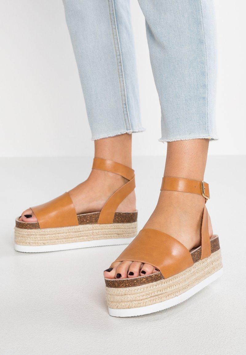 Even&Odd - Platform sandals - cognac