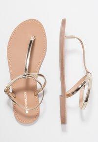 Even&Odd - Sandály s odděleným palcem - gold - 3