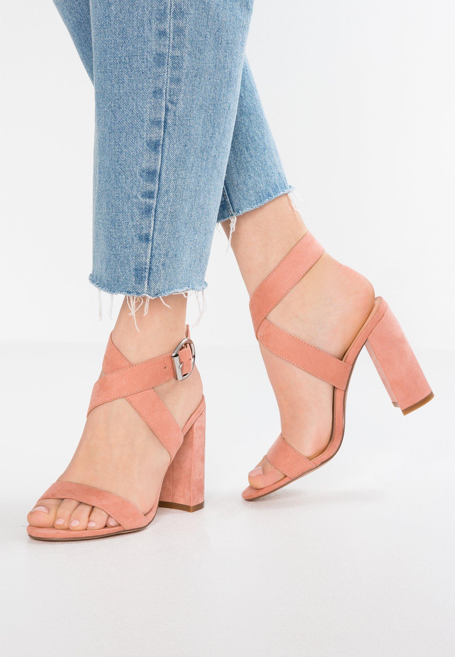 Sandali con tacco rose