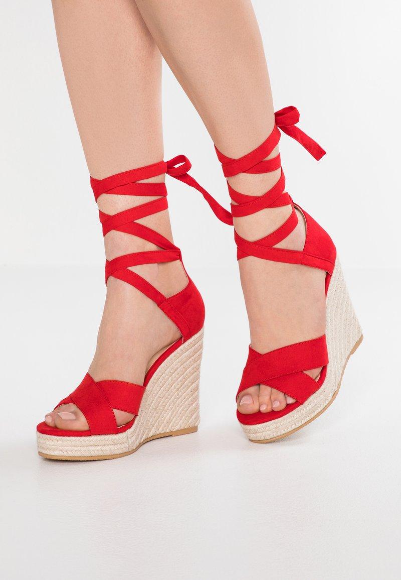 Even&Odd - Korolliset sandaalit - red