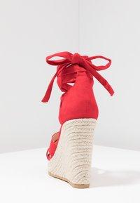 Even&Odd - Korolliset sandaalit - red - 5
