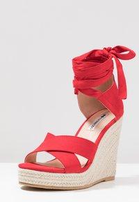 Even&Odd - Korolliset sandaalit - red - 4
