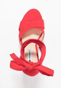 Even&Odd - Korolliset sandaalit - red - 3