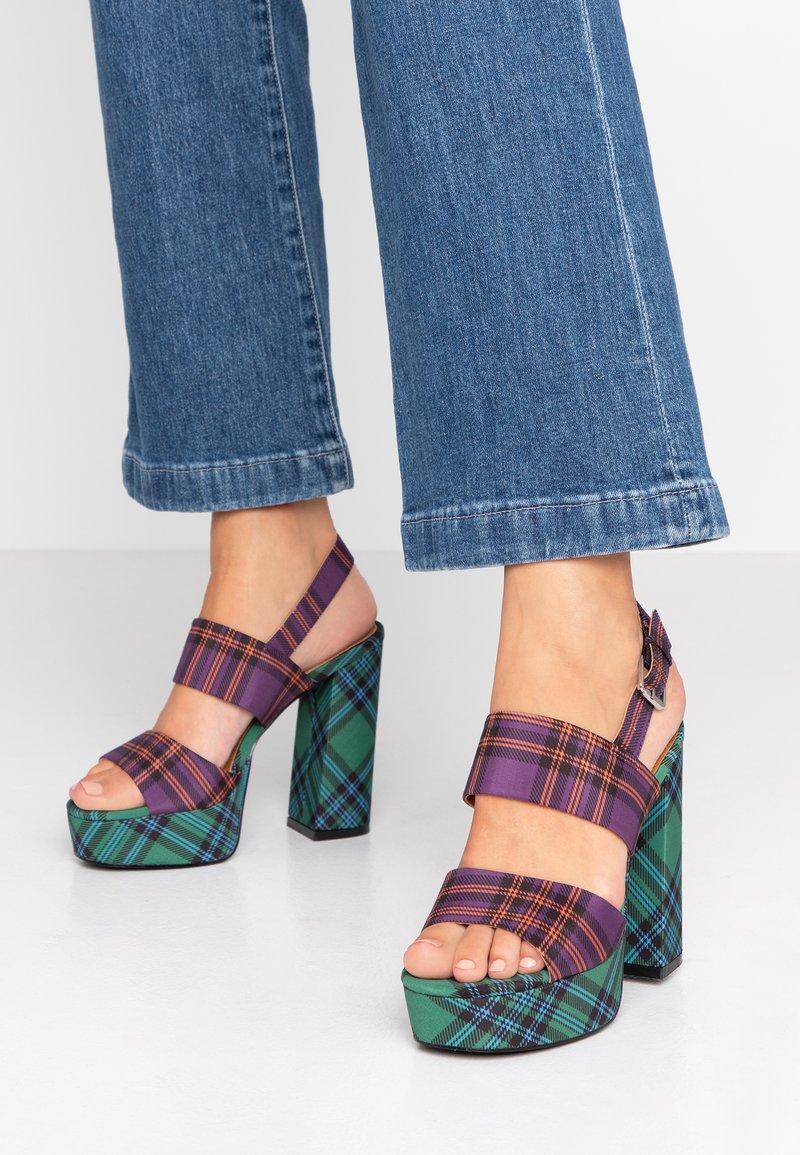 Even&Odd - High Heel Sandalette - purple