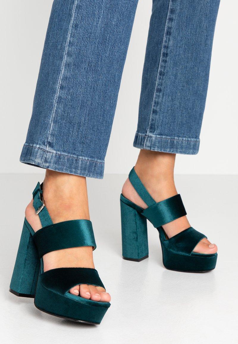 Even&Odd - Sandaler med høye hæler - green