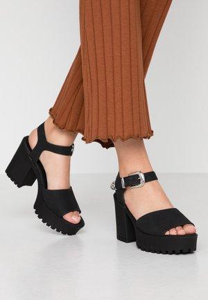 Sandalen met hoge hak - black