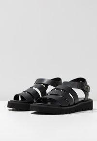 Even&Odd - Korkeakorkoiset sandaalit - black - 4