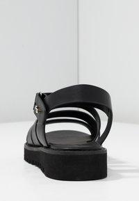 Even&Odd - Korkeakorkoiset sandaalit - black - 5