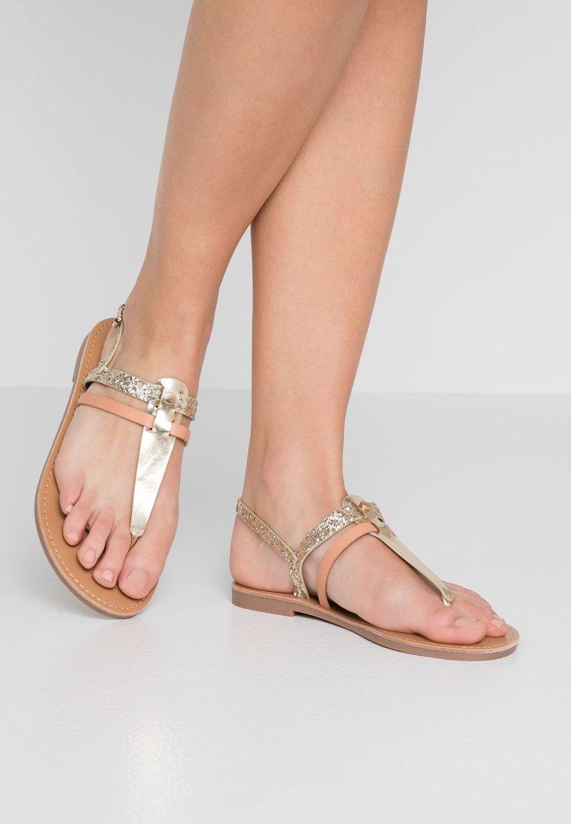 Even&Odd - T-bar sandals - rose gold
