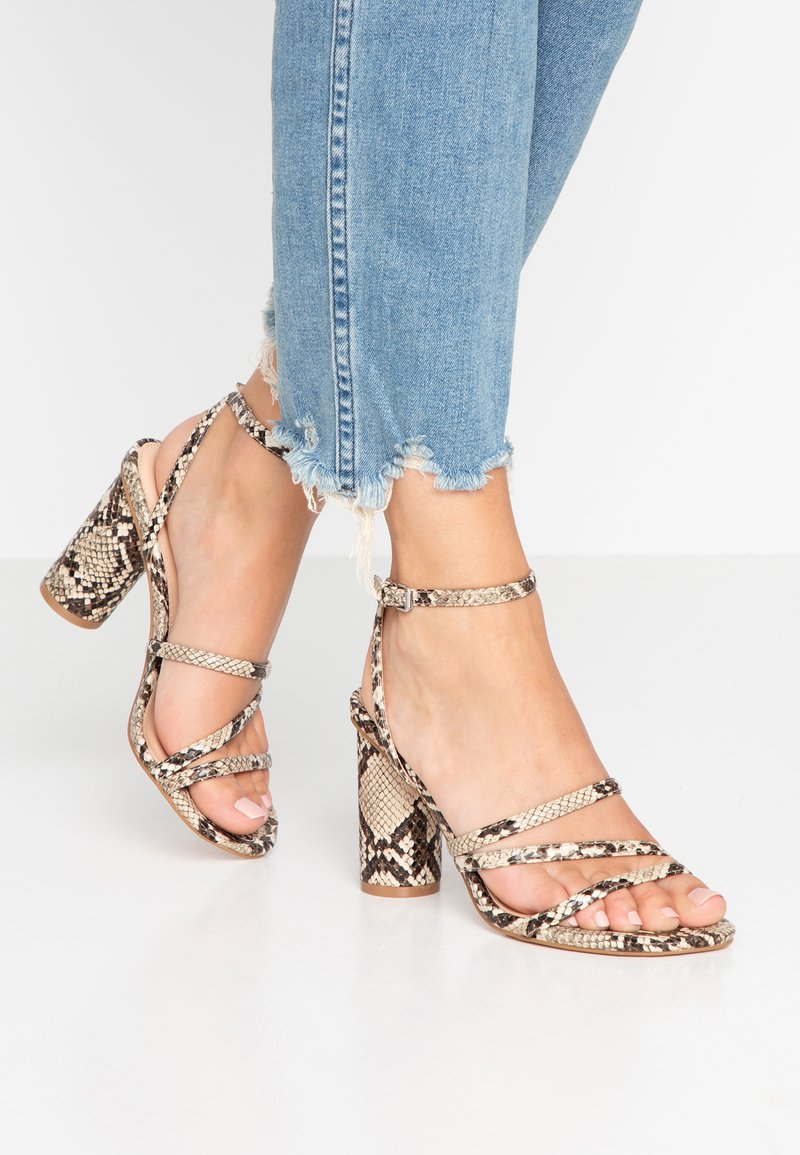 Even&Odd - Sandály na vysokém podpatku - beige