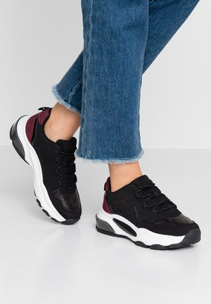 Sneakers - black/bordeaux