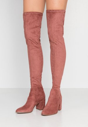 Over-the-knee boots - rose